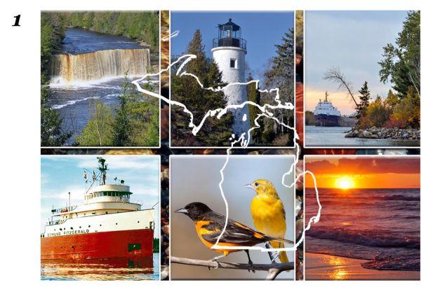 Scenic Michigan with Map Cutting Board1