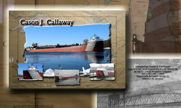 Nautical Postcard Set Cason J Callaway ship