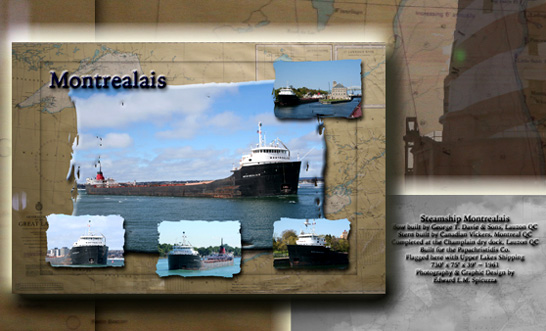 Nautical Postcard Set Montrealais ship