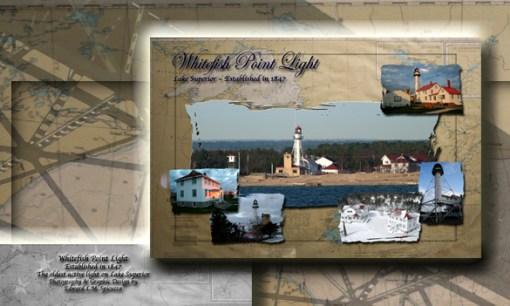 Nautical Postcard Set Whitefish Point Lighthouse Postcard