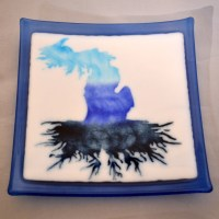 Michigan Roots Plate Blue