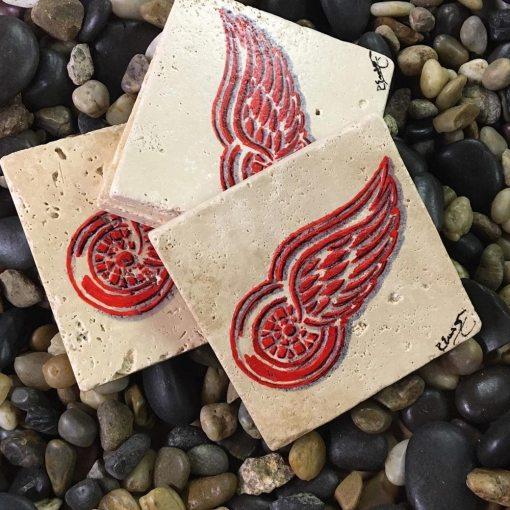 Detroit Red Wings Coaster Set