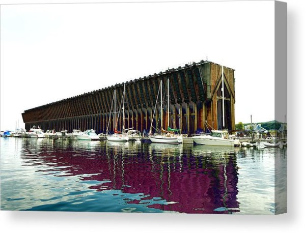 Lower Harbor Ore Dock At Marquette Michigan Canvas Print