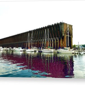 Lower Harbor Ore Dock At Marquette Michigan Canvas Print