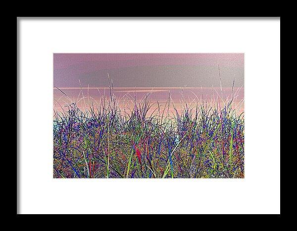 Blue Grass Print Lake Superior Beach