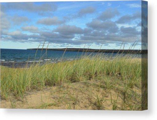 Cloudy Lake Superior Shoreline Canvas Print
