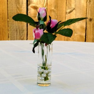 Pink Rose Buds Silk Floral Arrangement