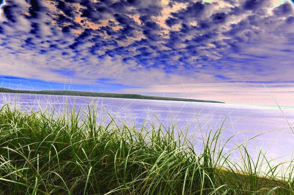 Rolling Blue Sky Over Lake Superior Art