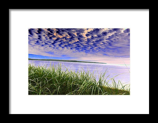 Rolling Blue Sky Over Lake Superior Print