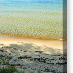 Lake Superior Sandy Blue Canvas Print