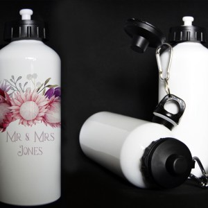 Custom Water Bottle White Aluminum