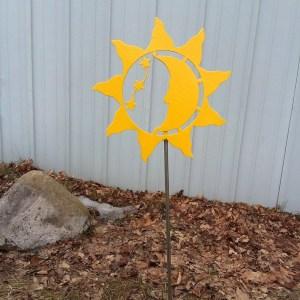 Sun Moon Stars Yard Stake