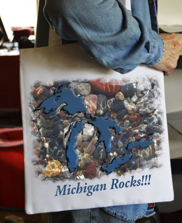 Tote Bag Great Lakes Rocks