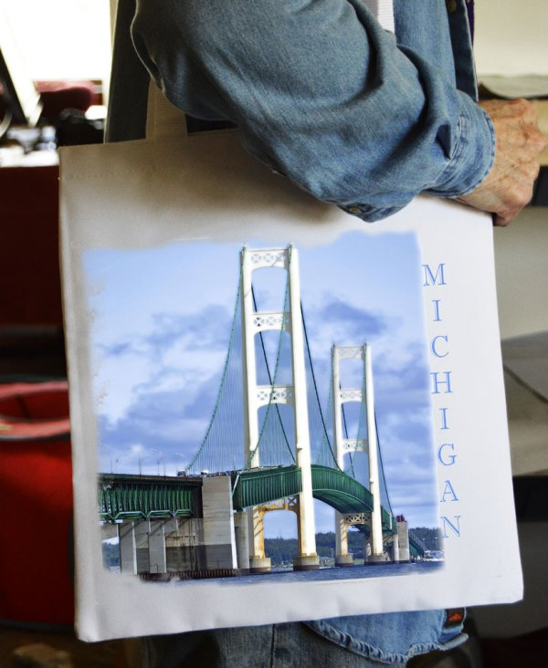 Tote Bag Mackinac Bridge