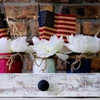 Patriotic Centerpiece Red White Blue
