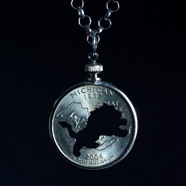 Detroit Lion Quarter Necklace