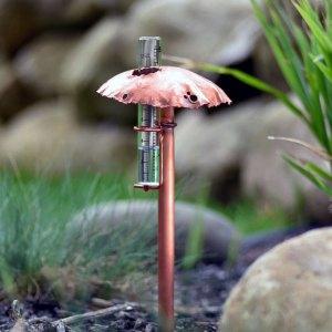 Mushroom Rain Gauge Solid Copper