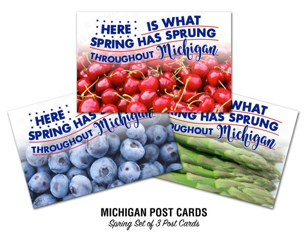 Michigan's Top Spring Crops Postcards