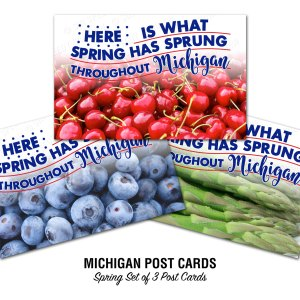 Michigan's Top Spring Crops Postcards