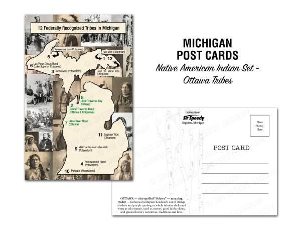 Ottawa Tribes Postcard