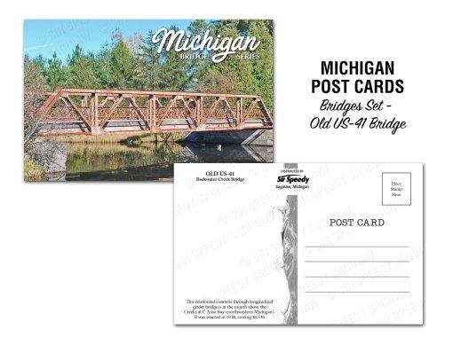 Old US-41 Bridge Postcard