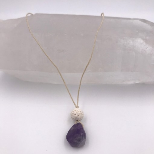 Amethyst Aromatherapy Necklace