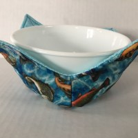 Fish Microwave Bowl Holder Cozy