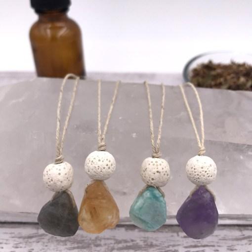 Gemstone Aromatherapy Necklaces