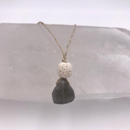 Labradorite Aromatherapy Necklace