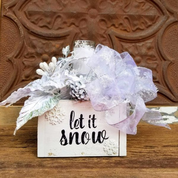 Let It Snow Holiday Centerpiece