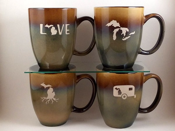 Michigan Bistro Mugs Tan Beige