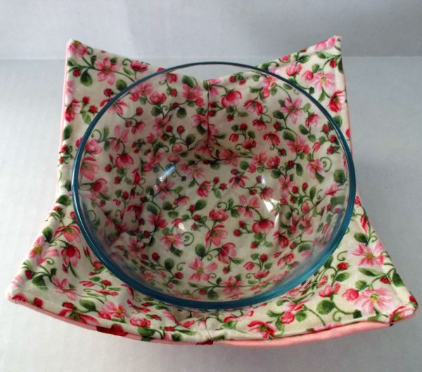 Cherry Blossoms Microwave Bowl Holder Cozy Hot Pad