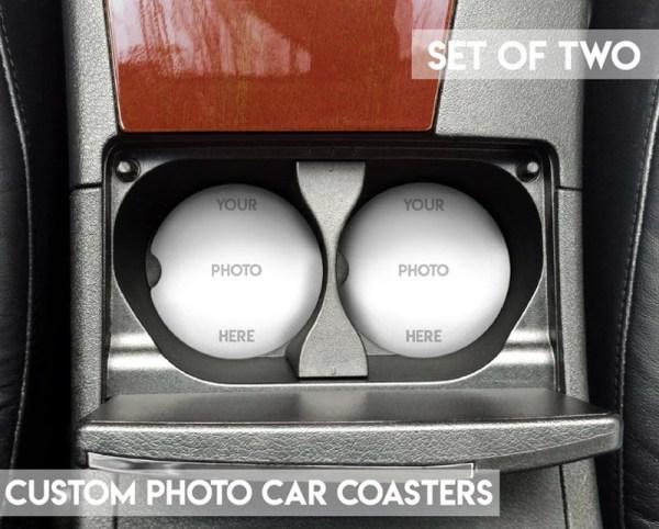Custom Photo Car Coaster Set for Cup Holders