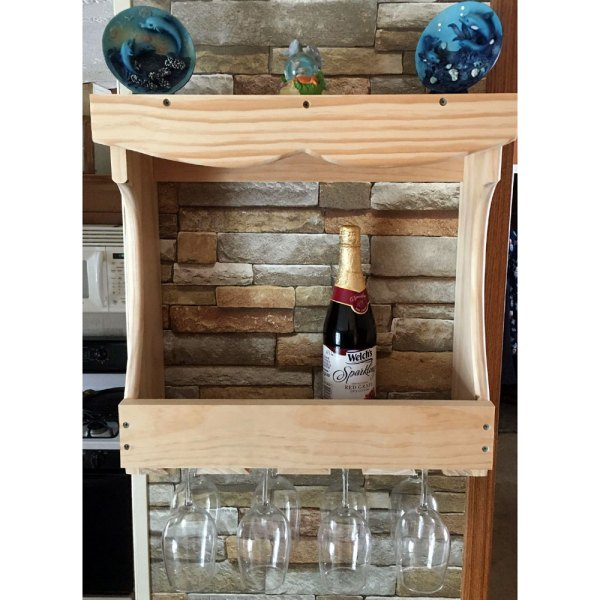 White Pine Large Wine Rack