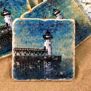 Manistee Lighthouse Coaster