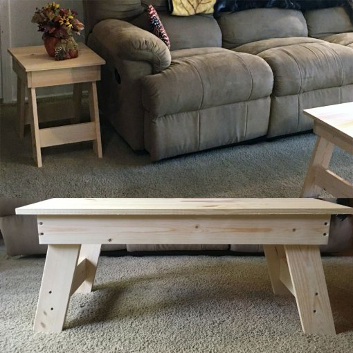 White Pine Coffee Table and End Tables