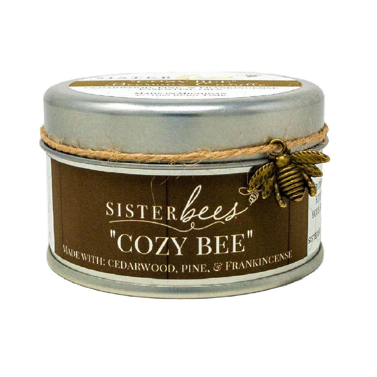 Cozy Bee Candle Cedarwood, Pine, Frankincense