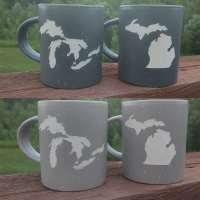 Speckled Stoneware Michigan Mugs