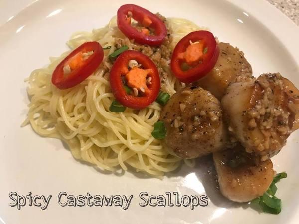 Spicy Castaway Scallops