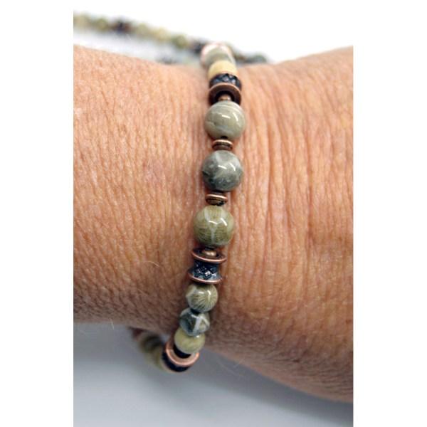 Petoskey Stone Copper Bracelets