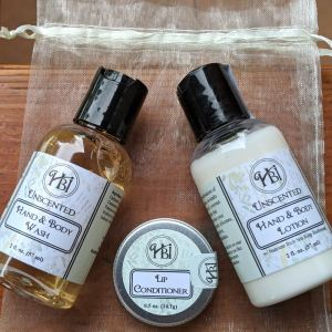 HBI Unscented Mini Gift Bag Bath & Body Set