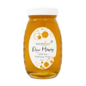 Michigan Wildflower Raw Honey 8oz Glass Jar