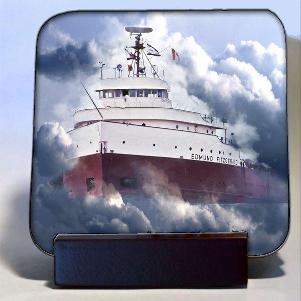 Edmund Fitzgerald In Clouds Coaster