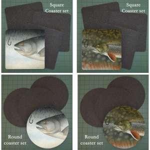 Neoprene Michigan Fish Coasters