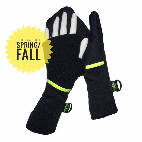 Lightweight Running Mittens Yellow