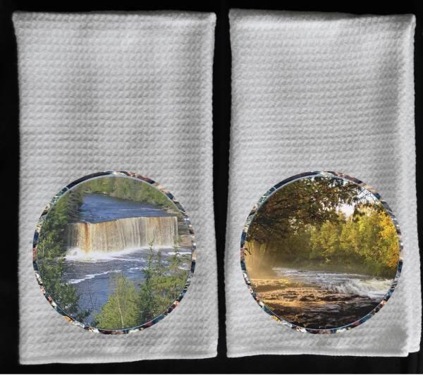 Tahquomenon Falls towel Ocqueoc waterfalls towel