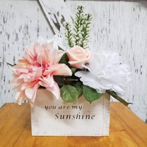 You Are My Sunshine Flower Box Centerpiece