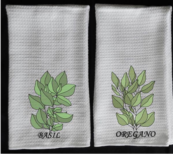 basil towel oregano towel