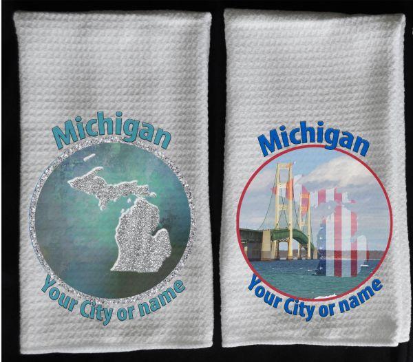 sparkle MI towel flag MI towel