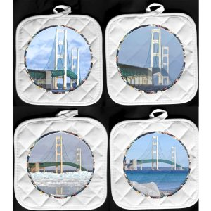 Mackinac Bridge Pot Holder Hot Pads